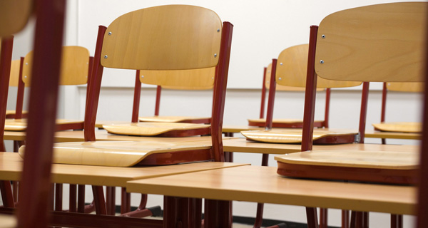 Leeres Klassenzimmer. Foto: Photo by Taken on Pixabay.com.